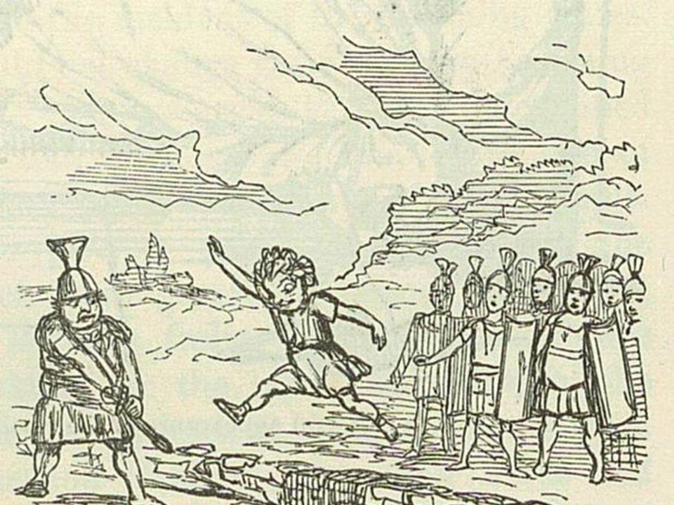 Romulus und Remus werden ausgesetzt Wölfin säugte die Zwillinge Hirten zogen sie auf Romulus baute eine Stadtmauer um Rom Remus sprang darüber Romulus