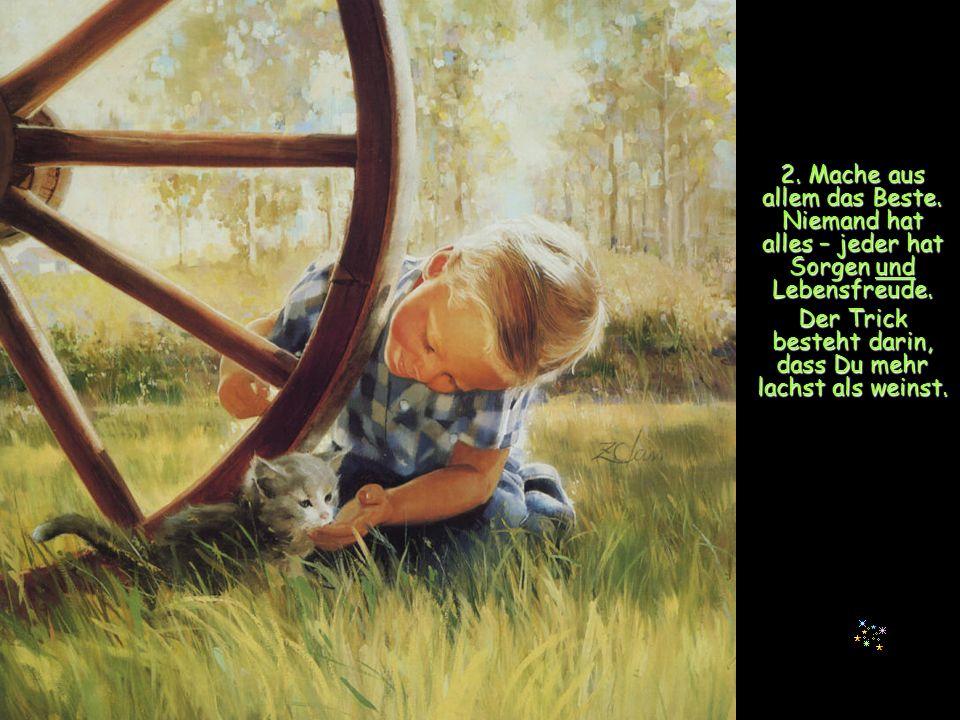 12.Beschäftige Dich mit dem, was Dir Freude macht.