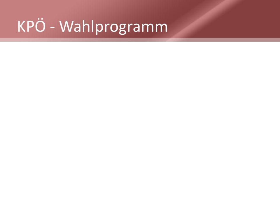 KPÖ - Wahlprogramm