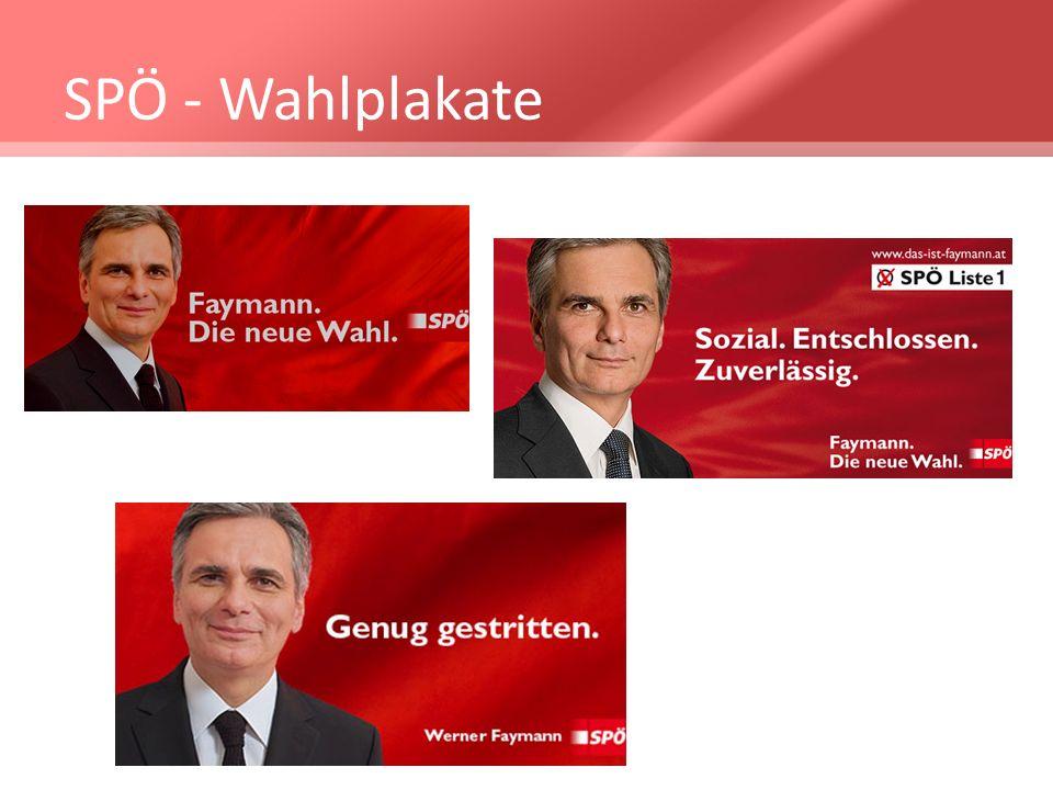 SPÖ - Wahlplakate