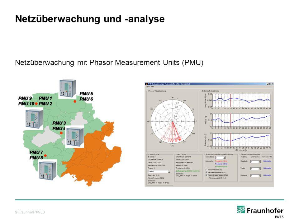 © Fraunhofer IWES Netzüberwachung und -analyse Netzüberwachung mit Phasor Measurement Units (PMU)