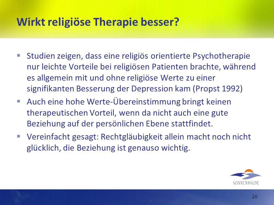 Wirkt religiöse Therapie besser? Studien zeigen, dass eine religiös orientierte Psychotherapie nur leichte Vorteile bei religiösen Patienten brachte,