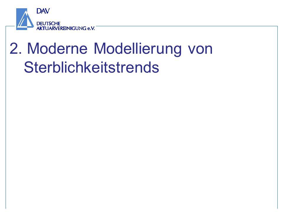 2. Moderne Modellierung von Sterblichkeitstrends