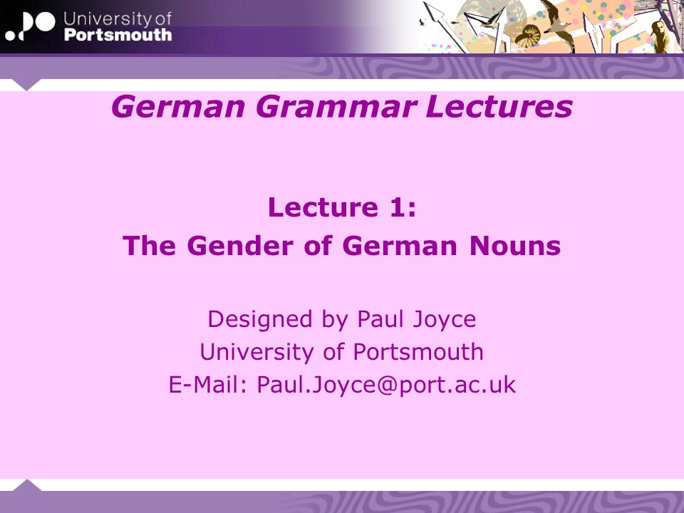 1.1 German noun declension There is no noun declension as such in German.