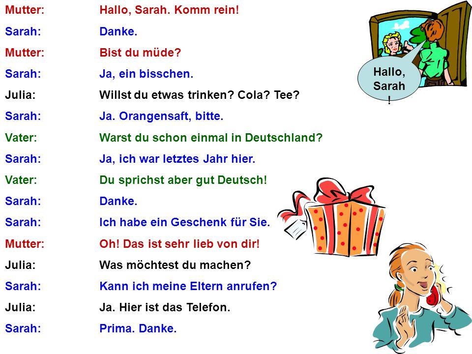 Das ist die deutsche Familie und das bin ich!