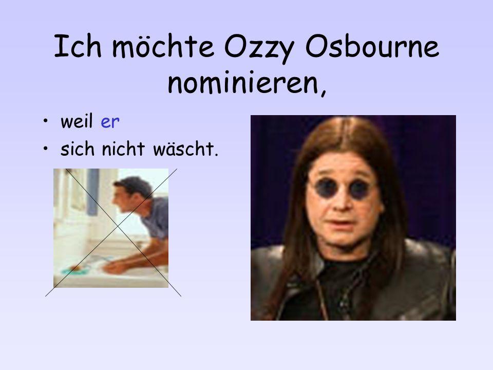 Ich möchte Michael Schumacher nominieren, weil er langweilig ist.