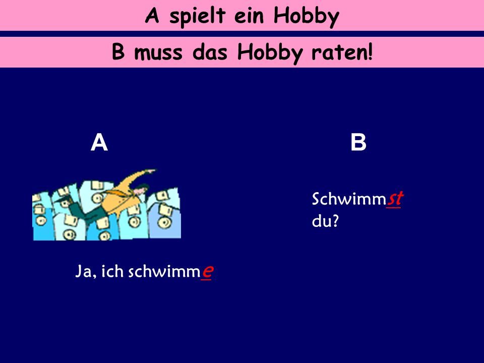 Frage: Wie fragt( ) man auf Deutsch. Antwort: Beginne mit dem Verb.