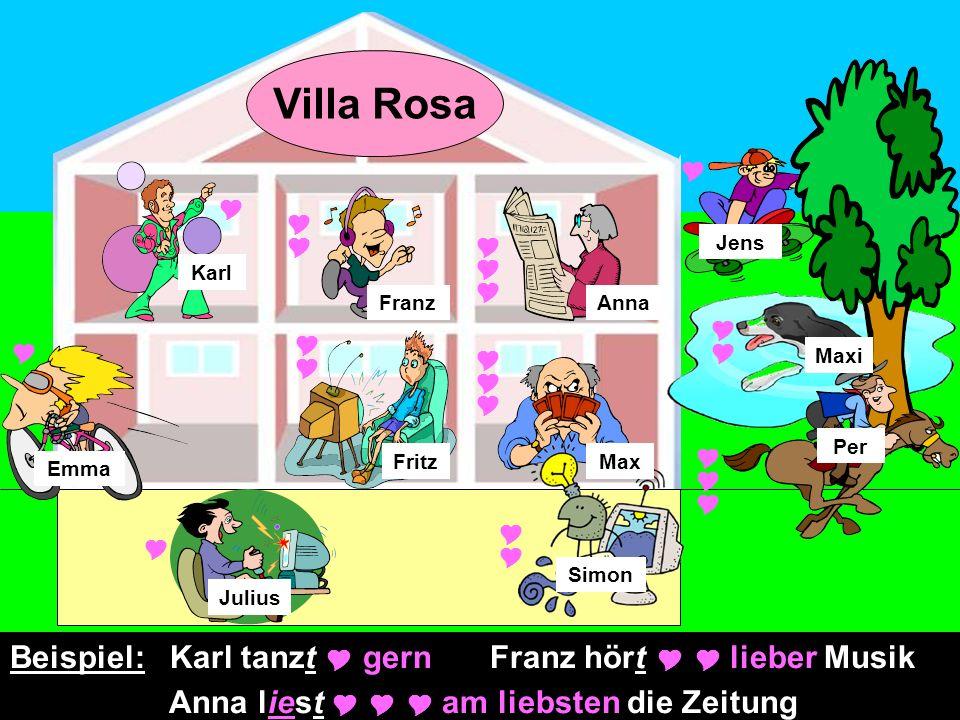Per Jens Maxi Julius Fritz Karl Emma Anna Simon Max Franz Villa Rosa