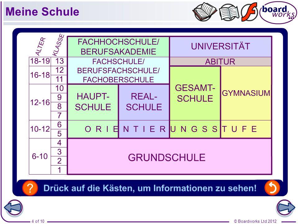 © Boardworks Ltd 20125 of 10 Meine Schule