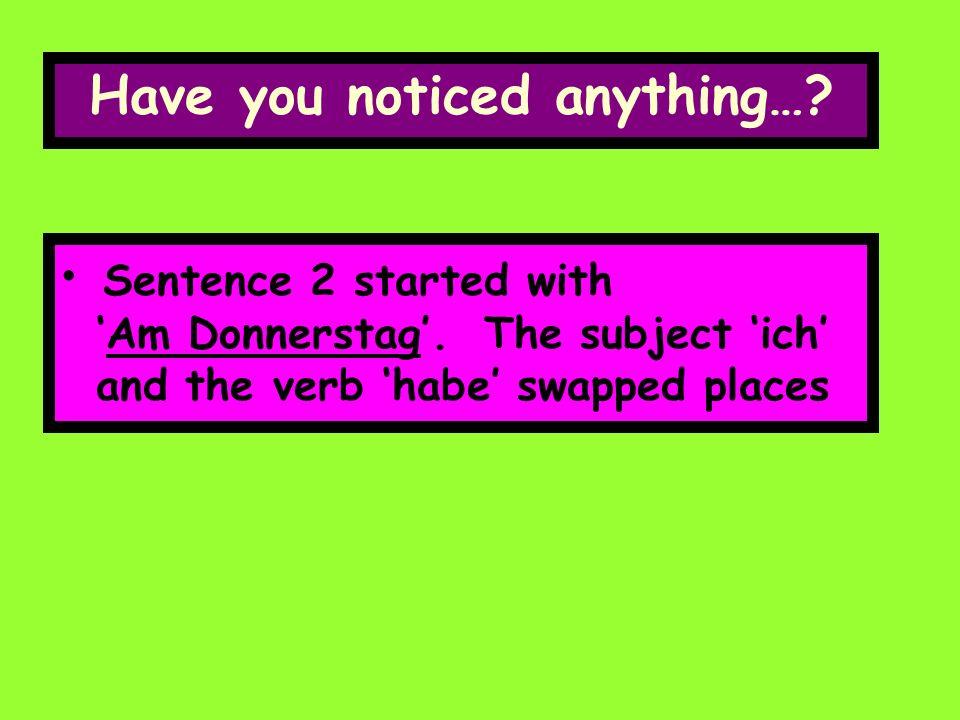 Ich habeDeutsch 123 Am Donnerstag habe ich Deutsch 1234