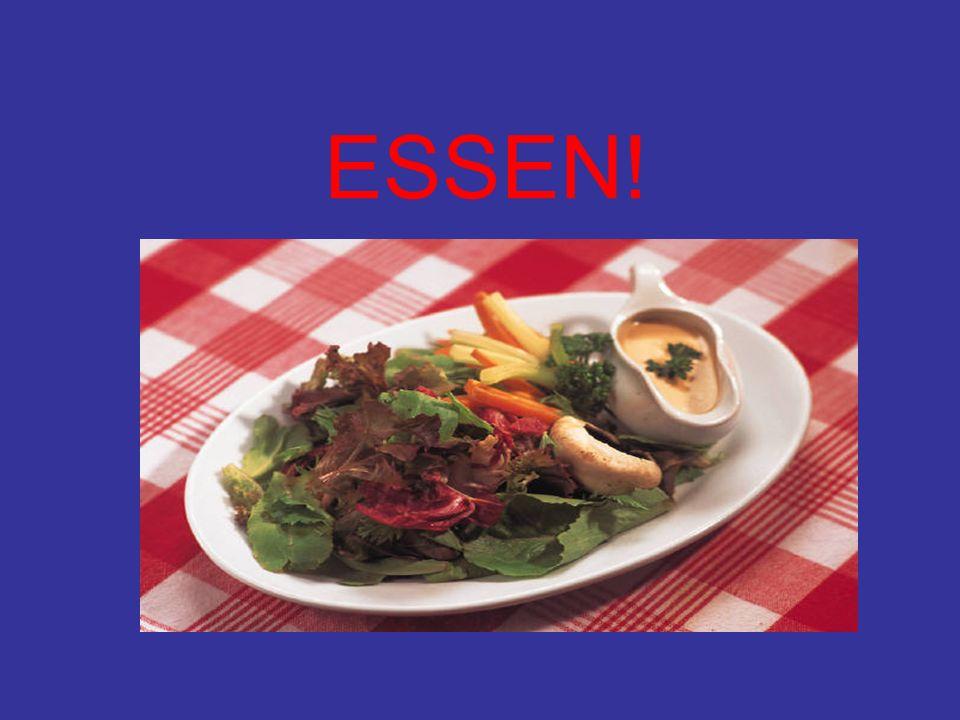 ESSEN-TO EAT ich du er/sie/es wir ihr sie/Sie