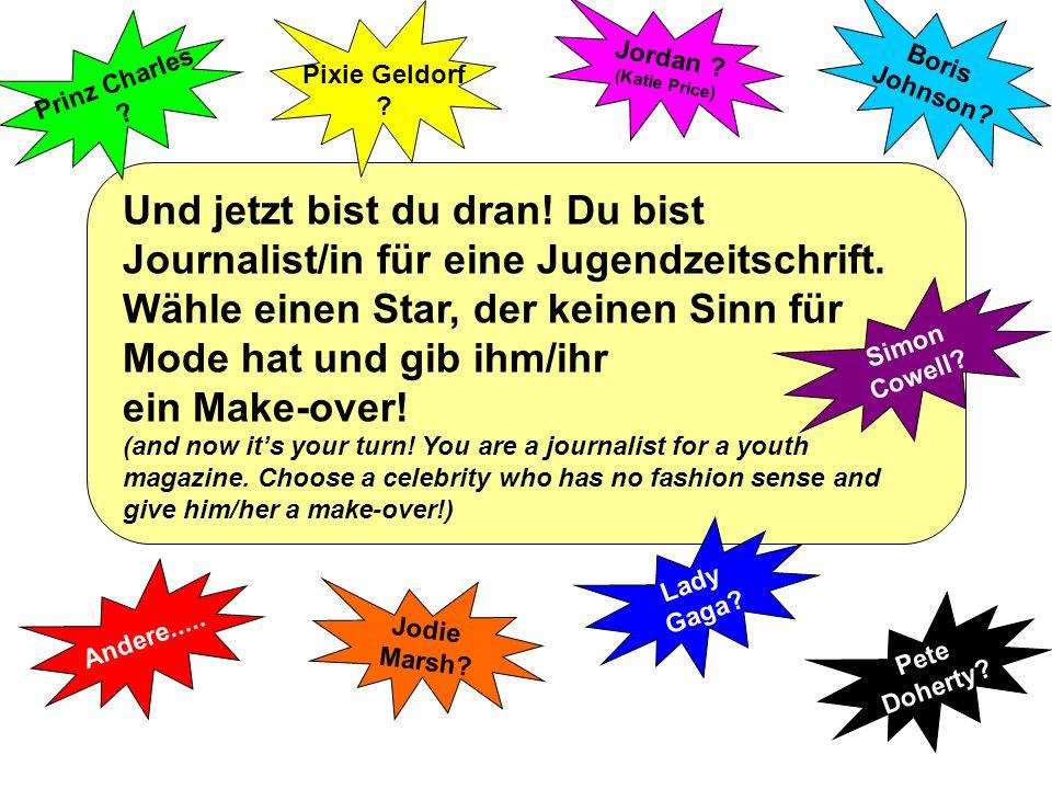 1 2 3 4 Hallo Leute. Ich heiße Annabel und ich bin Journalistin für eine Jugendzeitschrift.