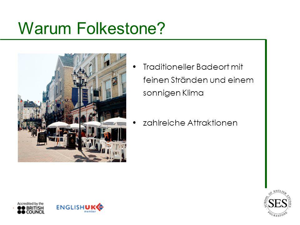 Warum Folkestone? Ausgezeichnetes Sportangebot Nah an Dover, Canterbury, London und Frankreich