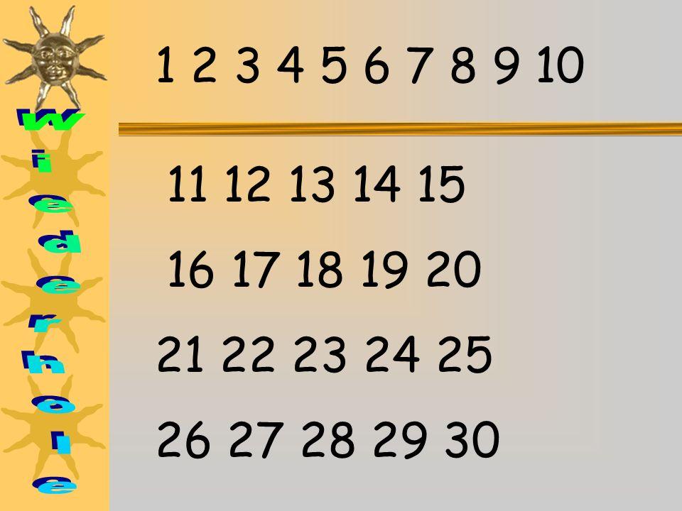 12 6 93 1 2 4 57 8 10 11 halb fünf zwanzig Viertel Fünfundzwanzig. Es ist …………. nach…………