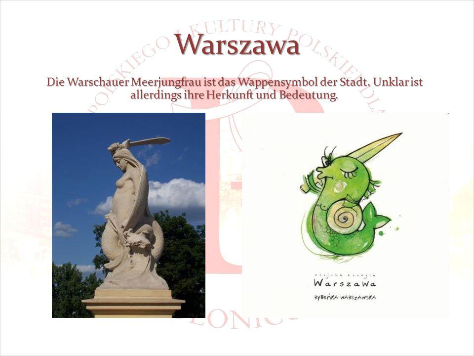 Warszawa Die Warschauer Meerjungfrau ist das Wappensymbol der Stadt.