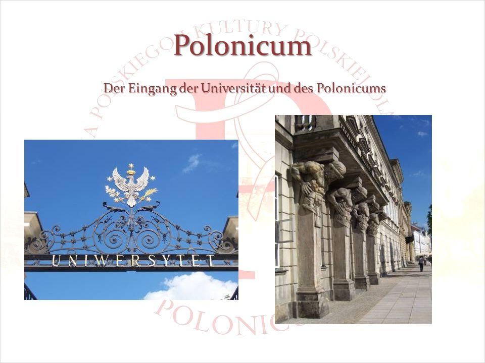 Polonicum Der Eingang der Universität und des Polonicums