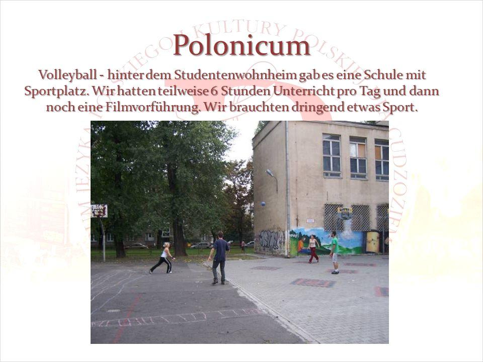 Polonicum Volleyball - hinter dem Studentenwohnheim gab es eine Schule mit Sportplatz.