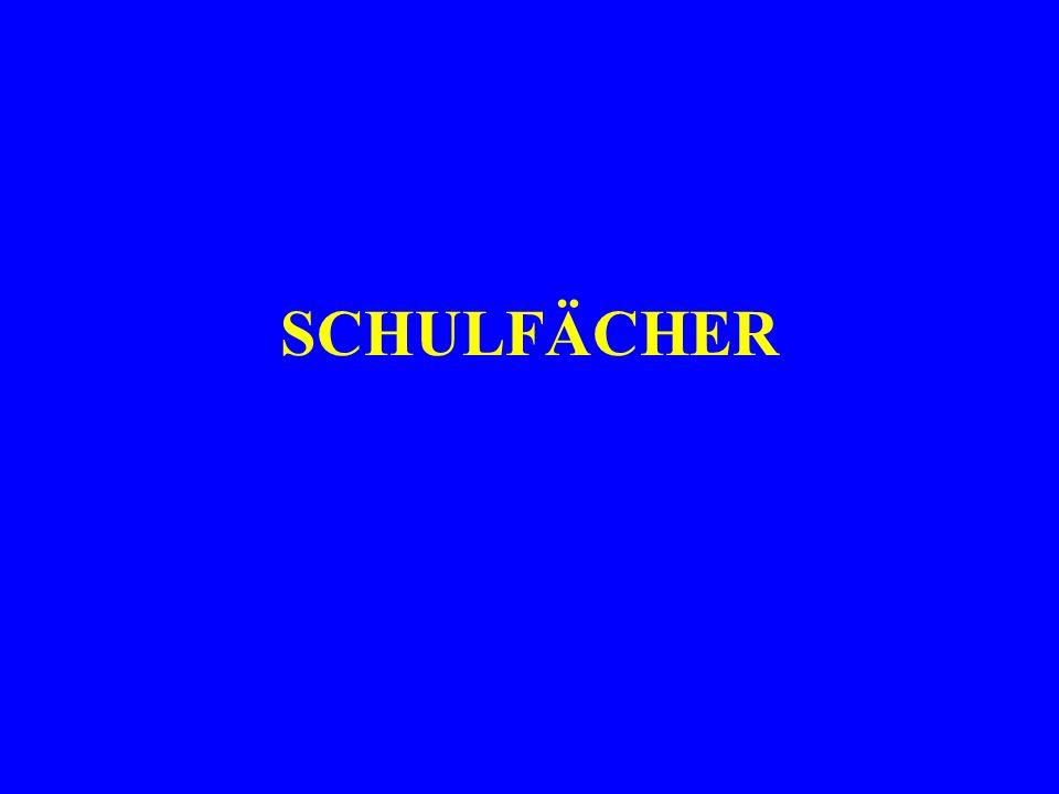 SCHULFÄCHER