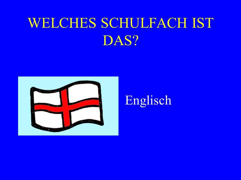 WELCHES SCHULFACH IST DAS? Englisch