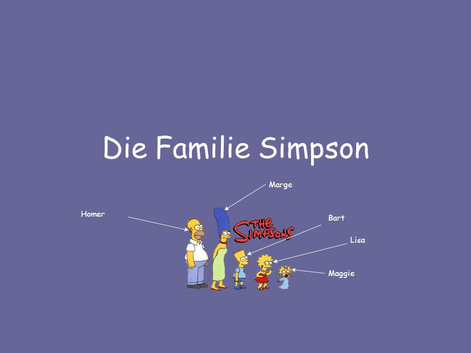 Die Familie Simpson Homer Marge Bart Lisa Maggie