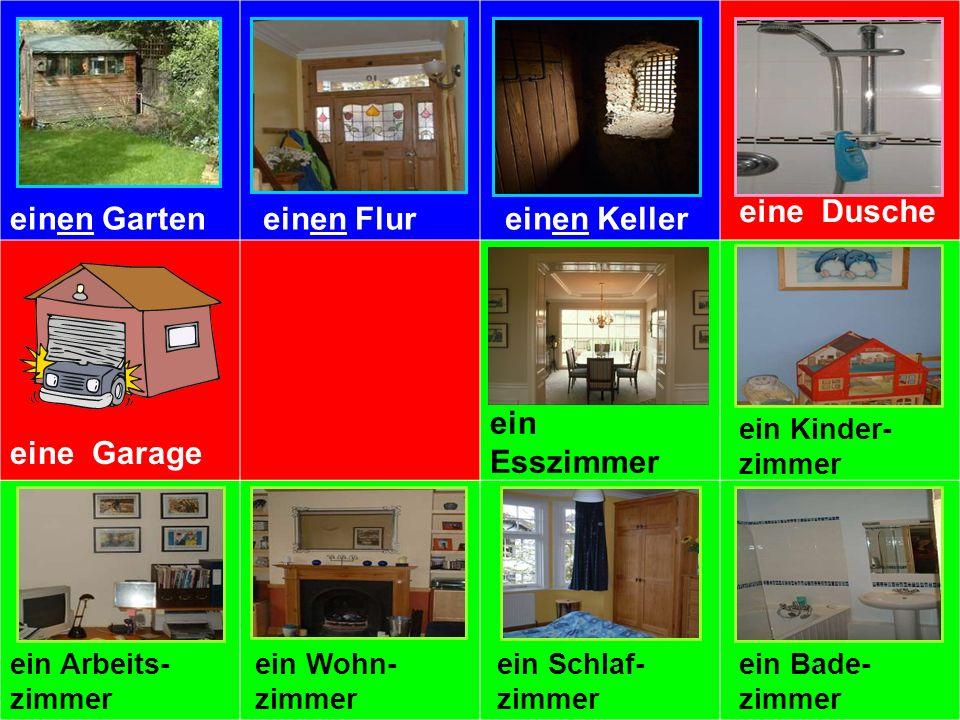 einen Garteneinen Flureinen Keller eine Dusche eine Garageeine Küche ein Esszimmer ein Kinder- zimmer ein Arbeits- zimmer ein Wohn- zimmer ein Schlaf-