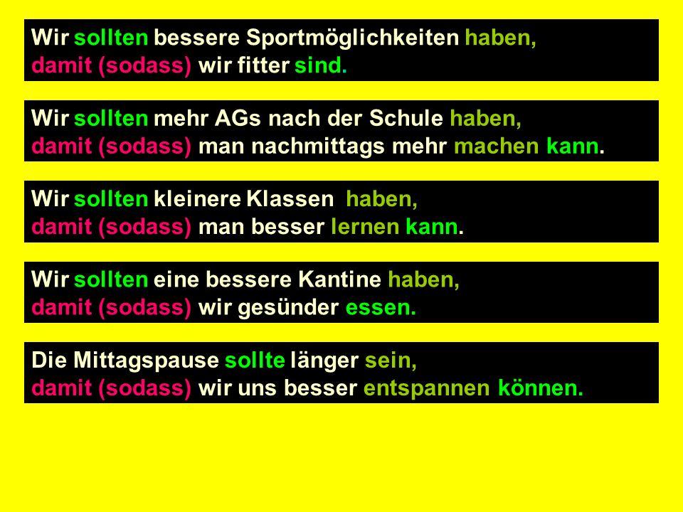 Schreibe die Sätze auf Deutsch!