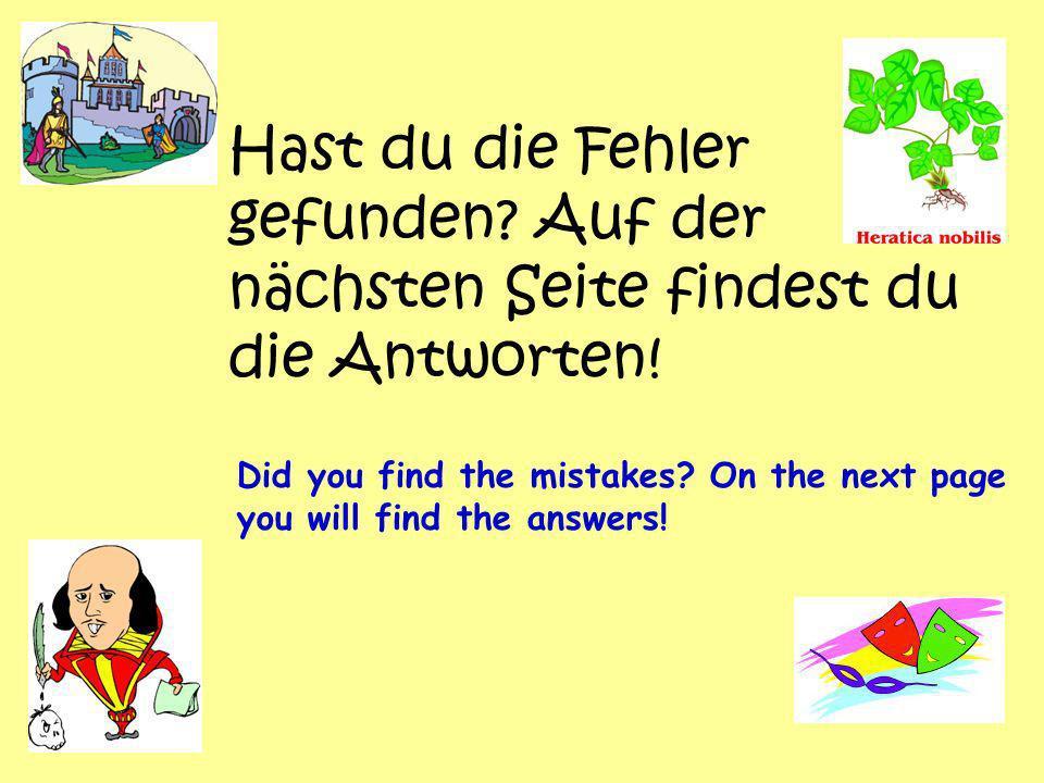 Hast du die Fehler gefunden.Auf der nächsten Seite findest du die Antworten.