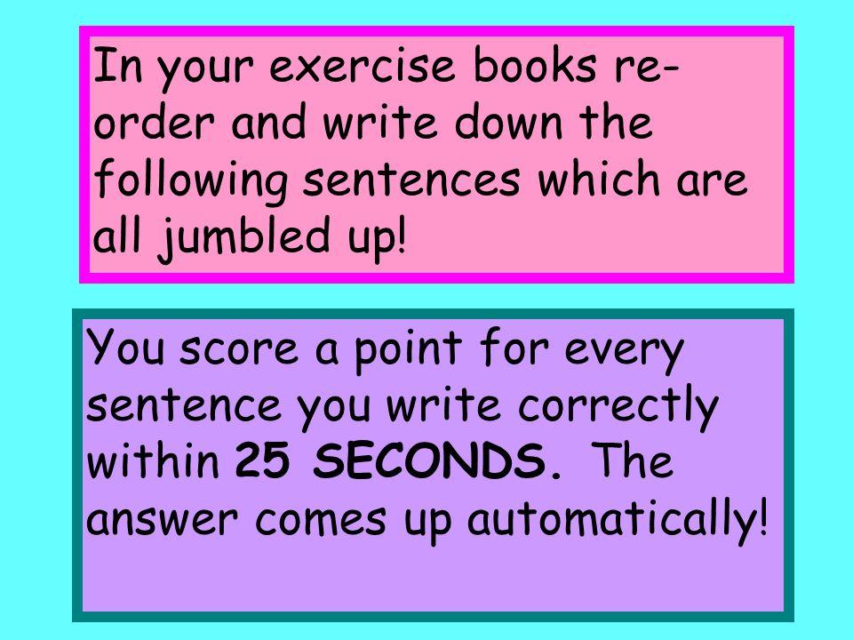 Ich muss immer meine Hausaufgaben machen. X immer oft immer X X