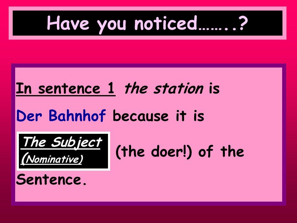 Have a look at the following 2 sentences Der Bahnhof ist in der Stadtmitte. (the station is in the town centre) Wie komme ich zu d em (zum) Bahnhof? (