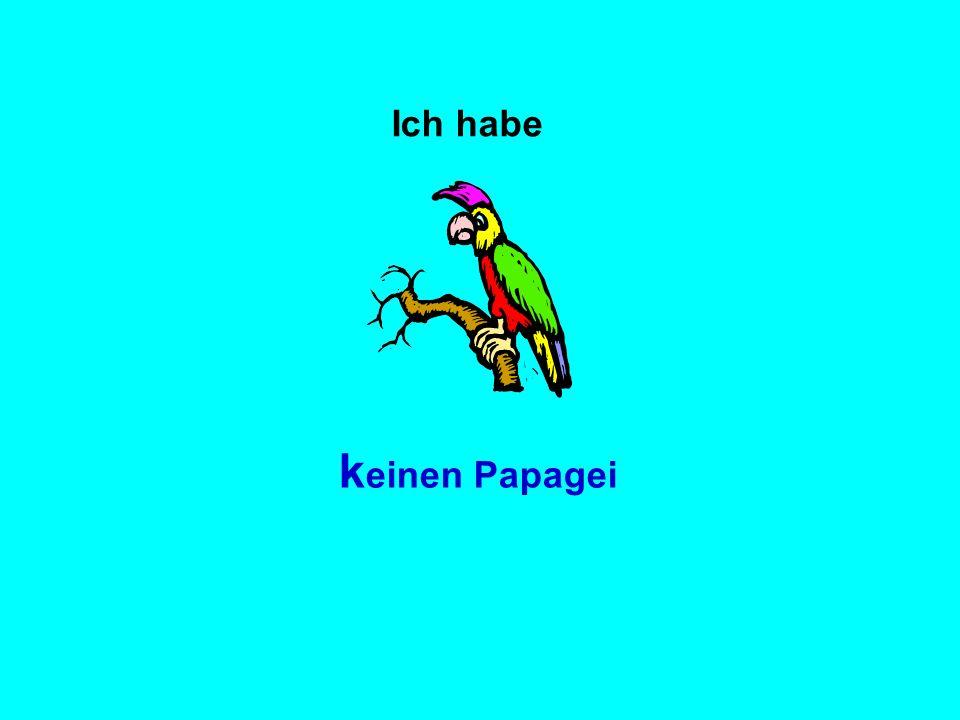 Ich habe k einen Papagei