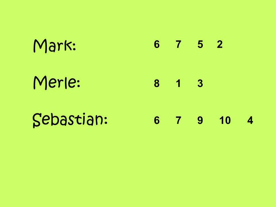 Mark: Merle: Sebastian: 6752 813 679104