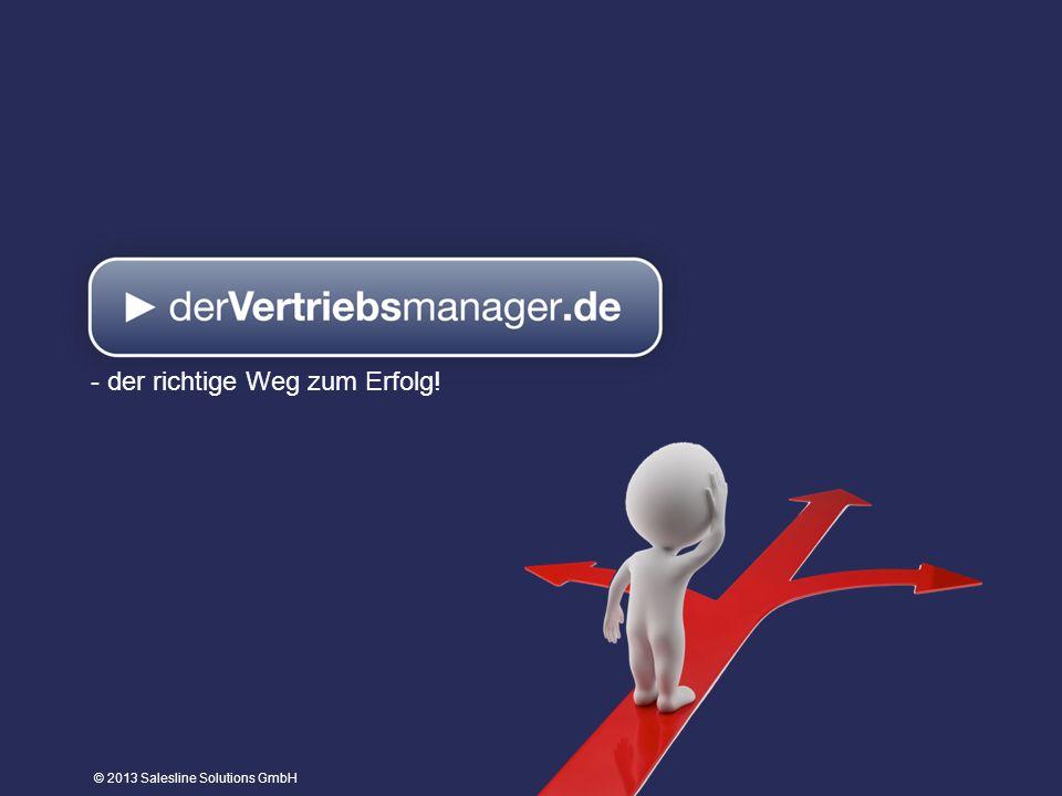 © 2013 Salesline Solutions GmbH - der richtige Weg zum Erfolg!