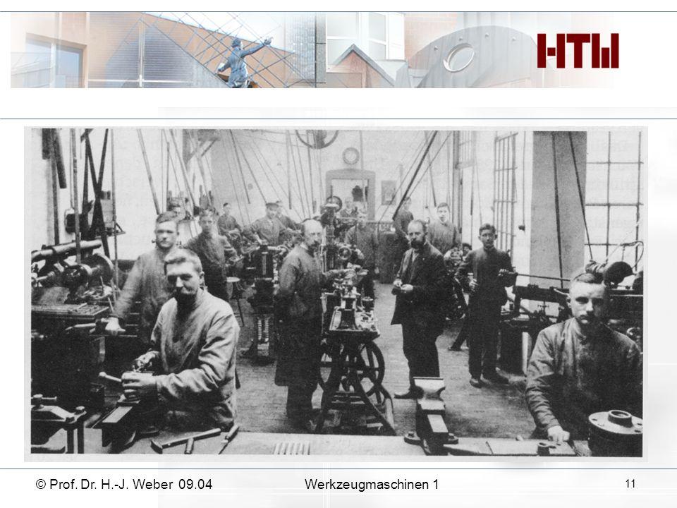 4. Wie können die Antriebe eingeteilt werden? © Prof. Dr. H.-J. Weber 09.04Werkzeugmaschinen 1 12