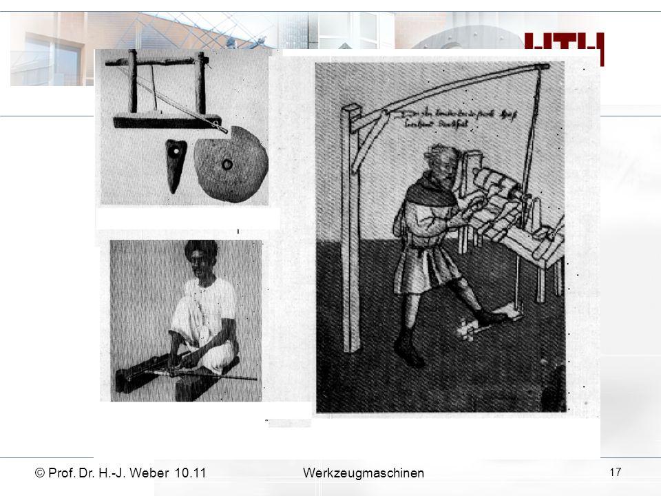 © Prof. Dr. H.-J. Weber 10.11Werkzeugmaschinen 17