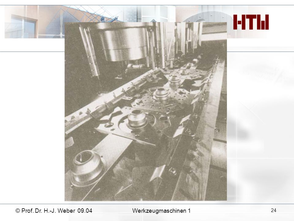 © Prof. Dr. H.-J. Weber 09.04Werkzeugmaschinen 1 24
