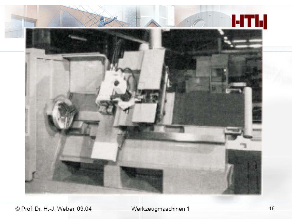 © Prof. Dr. H.-J. Weber 09.04Werkzeugmaschinen 1 18