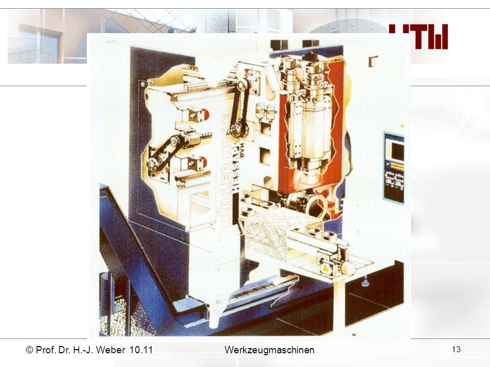 © Prof. Dr. H.-J. Weber 10.11Werkzeugmaschinen 13