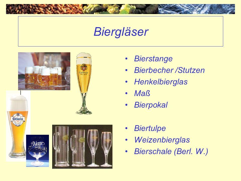 Biergläser Bierstange Bierbecher /Stutzen Henkelbierglas Maß Bierpokal Biertulpe Weizenbierglas Bierschale (Berl. W.)