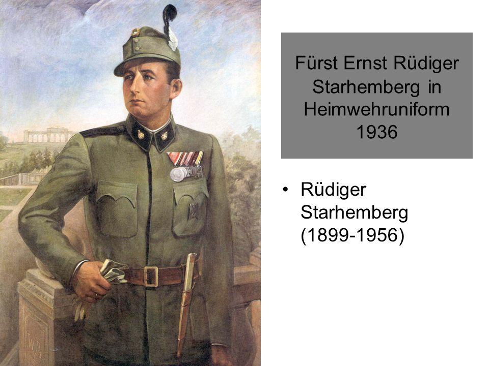 Fürst Ernst Rüdiger Starhemberg in Heimwehruniform 1936 Rüdiger Starhemberg (1899-1956)