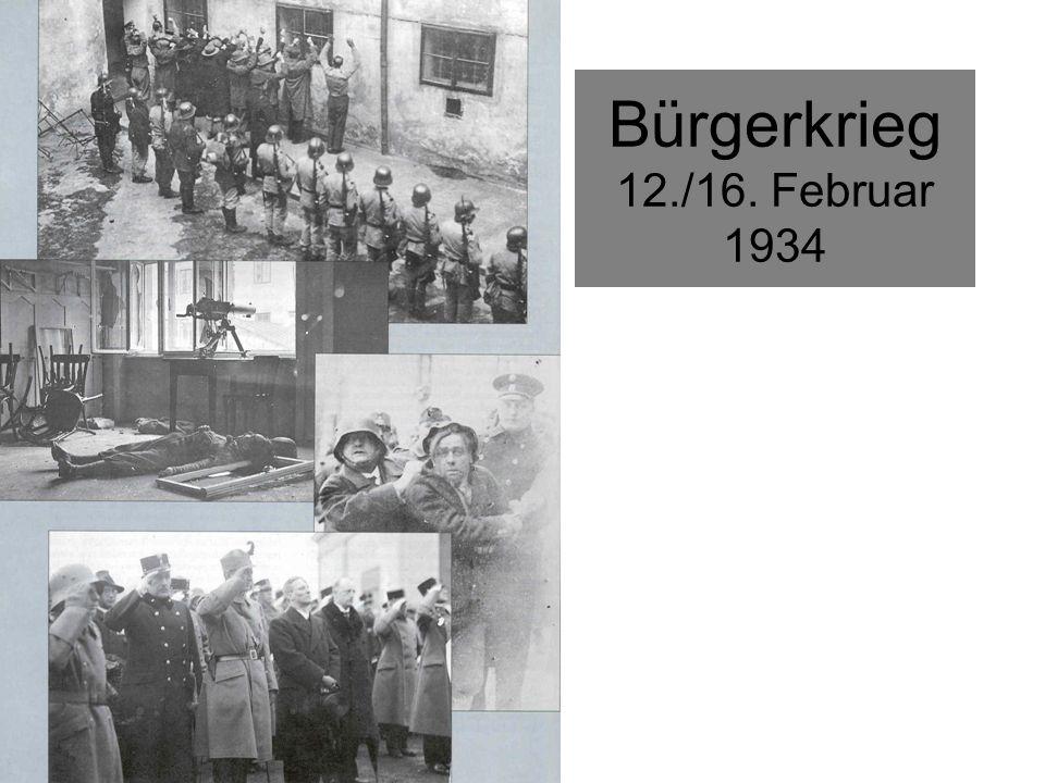 Bürgerkrieg 12./16. Februar 1934