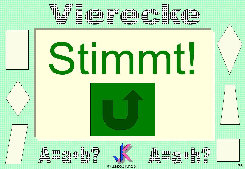 © Jakob Knöbl 36 Stimmt!