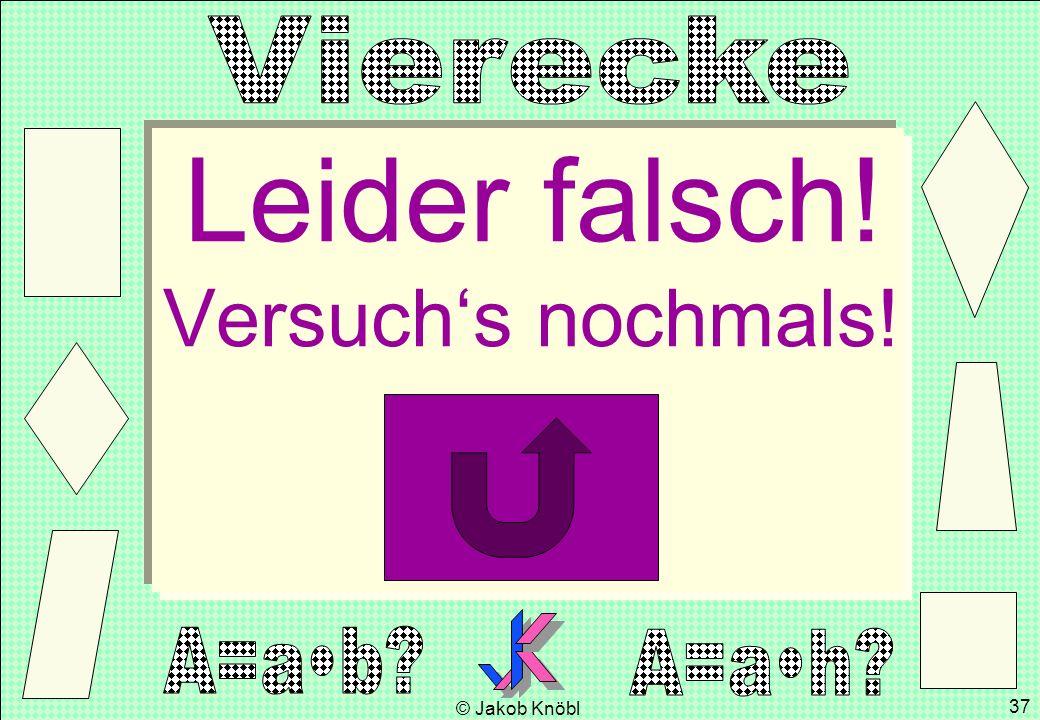 © Jakob Knöbl 37 Leider falsch! Versuchs nochmals!