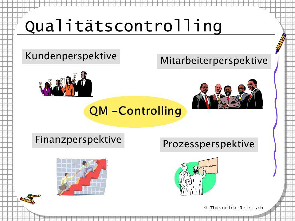 © Thusnelda Reinisch Qualitätscontrolling QM -Controlling Kundenperspektive Mitarbeiterperspektive Prozessperspektive Finanzperspektive