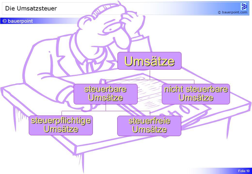 Rechnungen – formale Bestimmungen © bauerpoint.com Kleinbetragsrechnungen Bei Rechnungen, deren Gesamtbetrag (Entgelt und Umsatzsteuer) 150, nicht übe