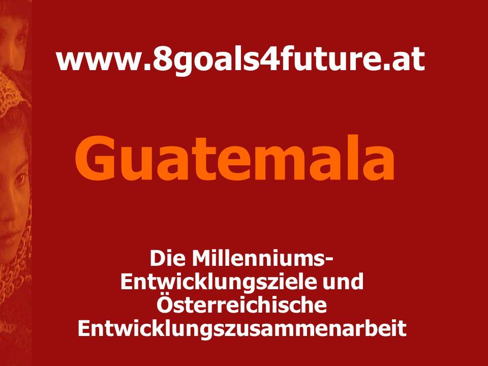 www.8goals4future.at Die Millenniums- Entwicklungsziele und Österreichische Entwicklungszusammenarbeit Guatemala