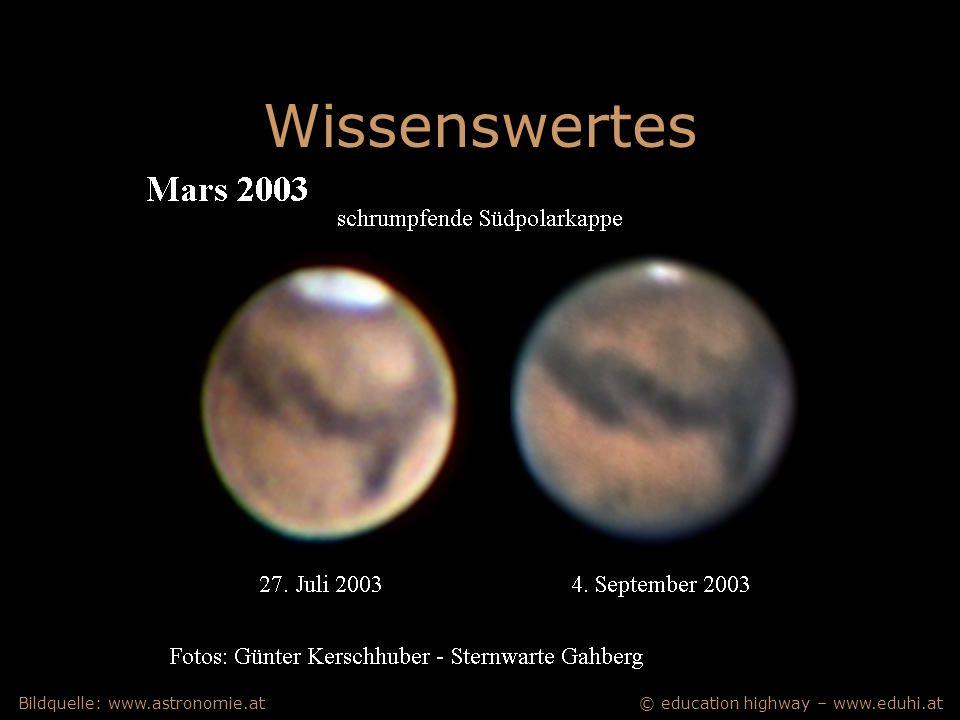 © education highway – www.eduhi.atBildquelle: www.astronomie.at Wissenswertes