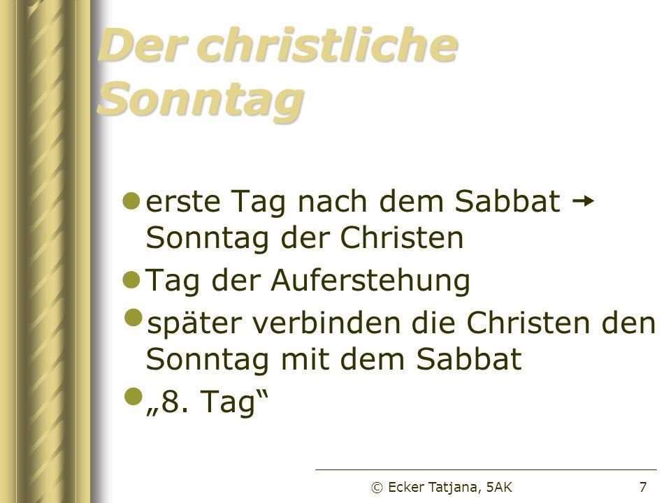 Derchristliche Sonntag Der christliche Sonntag erste Tag nach dem Sabbat Sonntag der Christen Tag der Auferstehung später verbinden die Christen den S