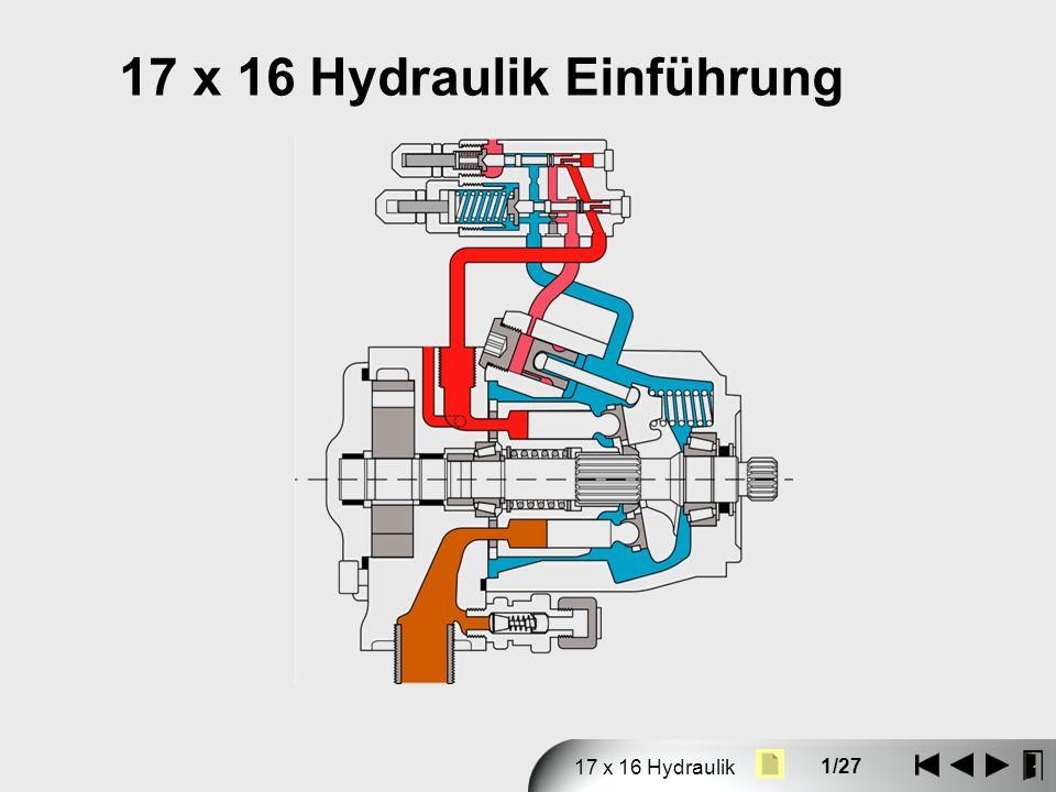 1/27 17 x 16 Hydraulik 17 x 16 Hydraulik Einführung