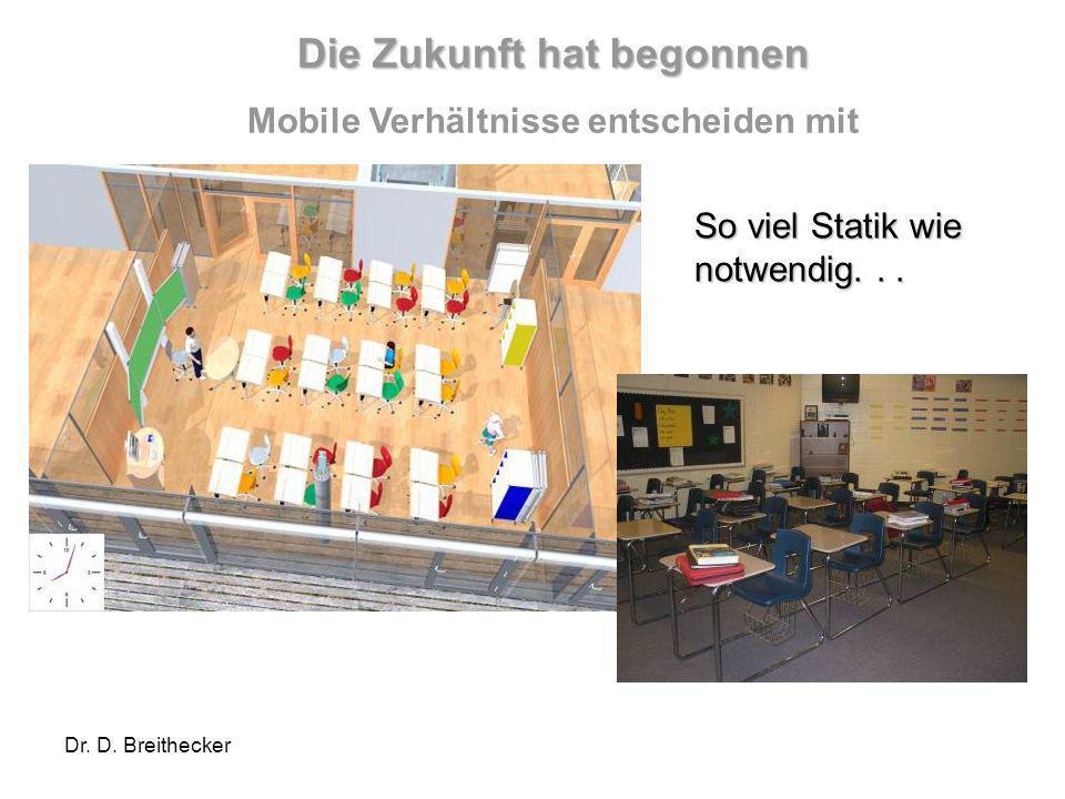Dr. D. Breithecker Mehr Flexibilität und Mobilität So viel Statik wie notwendig... Die Zukunft hat begonnen Mobile Verhältnisse entscheiden mit