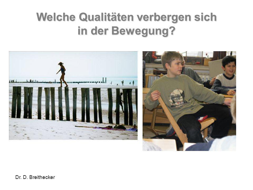Dr. D. Breithecker Welche Qualitäten verbergen sich in der Bewegung?